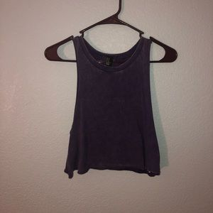 Workout crop top faded shirt vintage look